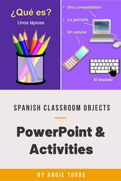 The teaching of los útiles escolares and objects in the classroom is a necessary step to bringing students to a conversational level. Everything you need to teach the Spanish Classroom Objects is in this bundle: 57-slide PowerPoint with engaging visuals, 4 Interactive Notebook Activities that include the articles, Google Drive Activities, digital versions, list of 55 classroom objects, instructions for Google Drive Activity and more! Click on the link for more details…