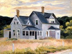 bofransson:  Edward Hopper - House on the Cape (Cottage, Cape Cod) 1940