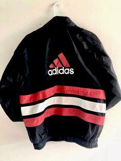 Vintage 90s ADIDAS mens Jacket XL BigLogo spellout Windbreaker COLOR BLOCK RETRO  | eBay