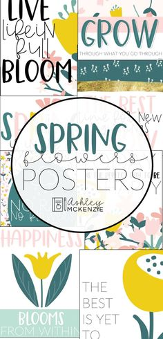 Display these spring posters in your classroom for a fun spring bulletin board display or in your home! The pack comes with 8 spring printables. Click to see all of them!