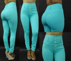 High waist Mint Green Colombian Jeans. Colombian buttlifting jeans available in different styles and sizes visit our website at www.shopdressworld.com . 100% Made in Colombia levanta cola jeans. #levantacola #colombianjeans #fashion #bootylifters #InstaFashion #InstaGood #Fashion #Follow #Style #Stylish #Fashionista #FashionJunkie #FashionAddict #FashionDiaries #FashionStudy #FashionStylist #FashionBlogger