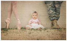 "Perfect pictureI've danced since I was two, and my boyfriend is in the Army, I know the picture is supposed to be ""what will she be when she's older"" but we are totally going to take a family photo one day like this!!"