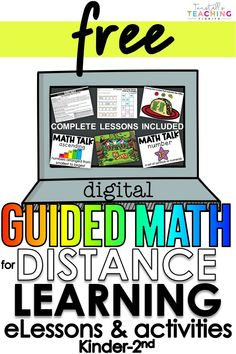 Digital Guided Math Distance Learning Guided Math, Guided Reading, First Grade, Second Grade, Math Numbers, Home Learning, Teacher Tools, Math Classroom, Try It Free