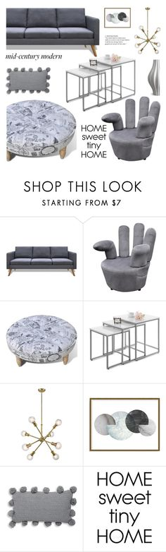 """Clean Spaces: Mid-Century Modern"" by samra-bv ❤ liked on Polyvore featuring interior, interiors, interior design, home, home decor, interior decorating, Art Addiction, Thro, Jonathan Adler and modern"