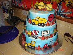 Construction Theme Birthday cake -