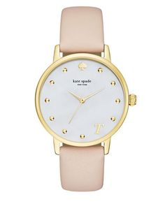 Analog Monogram Leather Strap Watch | Hudson's Bay