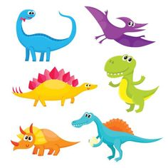 "Buy the royalty-free Stock vector ""Set of cute and funny smiling baby dinosaurs, cartoon"" online ✓ All rights included ✓ High resolution vector file for. Cartoon Dragon, Cartoon Dinosaur, Dinosaur Funny, Spinosaurus, Happy Cartoon, Cute Cartoon, Free Vector Graphics, Free Vector Art, Dinosaur Illustration"