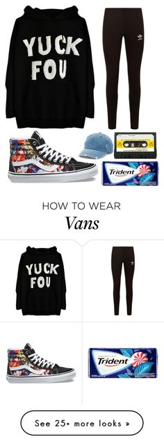 """""""( let's never meet again )"""" by analisia-marie on Polyvore featuring adidas Originals, Vans and Mudd"""