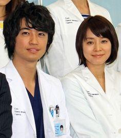 Doctors' Affairs: Saito Takumi, Ishida Yoriko, Aibu Saki, Hirayama Hiroyuki. #jdrama Japanese Drama, Long Time Ago, Asian Men, Affair, Celebs, Doctors, Celebrities, Celebrity, Famous People