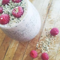 Raspberry Chia + Hemp Seed Pudding. Click for full recipe :)