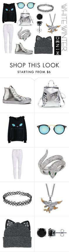 """""""Untitled #47"""" by whatpandas ❤ liked on Polyvore featuring Converse, Loeffler Randall, Effy Jewelry, Palm Beach Jewelry, Silver Spoon Attire, BERRICLE and almostmonochrome"""
