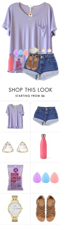 """RTD for Kylie's contest"" by mmprep ❤ liked on Polyvore featuring Clu, Charlotte Russe, S'well, Zodaca, Kate Spade and Zara"