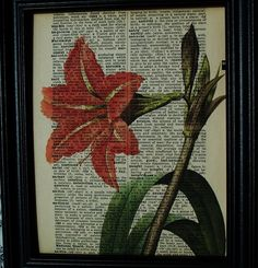 Amaryllis Flower Upcycled Steampunk by Winterberrycottage on Etsy, $8.80