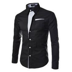 Men's Shirts Dress Shirts Mens Striped Shirt Cotton Slim Fit Chemise Long Sleeve Shirt Men New Model Shirts White Plus Size