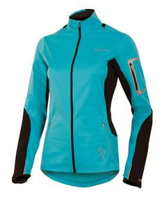 Scuba Blue & Black Infinity Softshell Jacket - Women #zulily #zulilyfinds