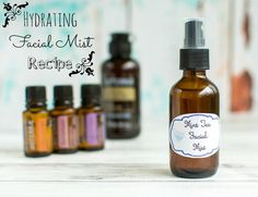 Hate dry airplane skit? Learn how to make your own soothing facial mist that's great for traveling and dry winter weather!