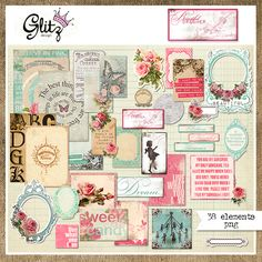 Snap Click Supply Co. - Beautiful Dreamer Element Pack 1, $3.99 (http://www.snapclicksupply.com/beautiful-dreamer-element-pack-1/)