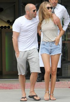 7月14日 Rosie Huntington-Whiteley  Jason Statham @LA