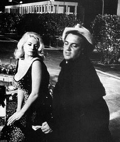 Anita Ekberg and Fellini