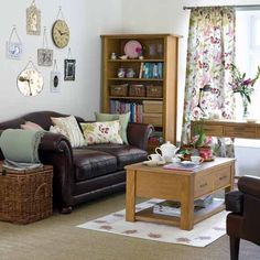 This setting arrangement works well as is allows you to have more furnisher in a living space.