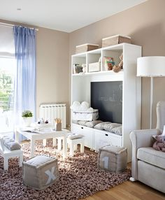The best kids room is the one in which the child does not only feel comfortable but also entertained. Therefore, it is especially important to create an ✌Pufikhomes - source of home inspiration Girls Bedroom, Bedroom Decor, Girl Rooms, Bedrooms, Multipurpose Room, Ideas Hogar, Kids Decor, Home Decor, Kid Spaces