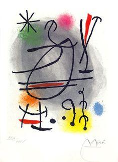 Etching And Aquatint Miró - Jean Cassou: Vingt-Deux Poèms Spanish Painters, Spanish Artists, Joan Miro Paintings, Catalogue Raisonne, Cubism Art, Art For Kids, Modern Art, Picasso, Prints