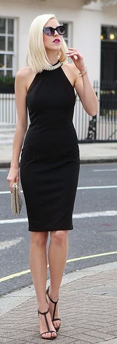 Golden Collar LBD by Meri Wild Blog  covered up but still sexy