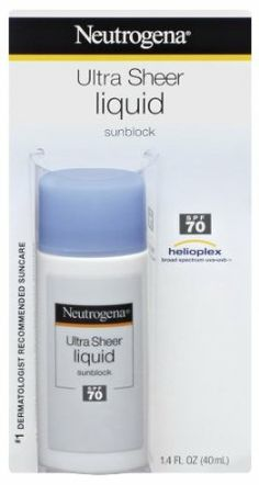 Neutrogena Ultra Sheer Liquid Sunblock, SPF 70