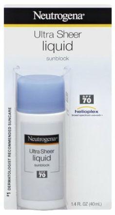 Neutrogena Ultra Sheer Liquid Sunblock, SPF 70