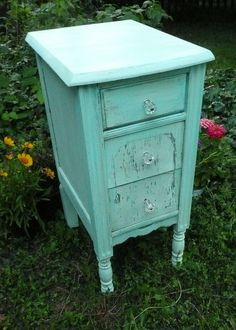 Shabby Cottage Bedside Table.