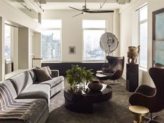 This Chic Chelsea Loft Incorporates (Nearly) 50 Shades of Gray Photos | Architectural Digest - Neal Beckstedt