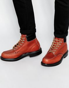 Red Wing 6-Inch Moc Toe Cuff Leather Boots