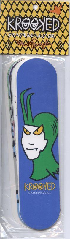 Krooked Sticker Pack 10x Skateboard Decks Art by Mark Gonzales