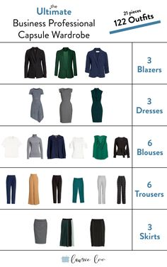 Need to create a business professional work capsule wardrobe on a budget? - Need to create a business professional work capsule wardrobe on a budget? you can do it only 20 pieces and have outfits for months, girlfriend! Business Professional Outfits, Professional Wardrobe, Classic Wardrobe, Office Attire Women Professional Outfits, Business Travel Outfits, Professional Dress For Women, French Minimalist Wardrobe, Summer Professional, Business Casual Outfits For Work
