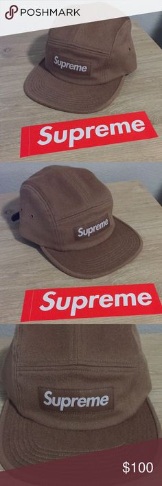 7e2e73f1378 Supreme Wool Camp Cap Supreme Camel Wool Camp Cap Hat 100% Authentic Never  worn NEW CONDITION w  Leather Strap Includes Supreme Bag Supreme  Accessories Hats