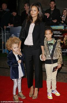 Setting a good example: Thandie doesn't want daughters, 11-year-old Ripley and Nico, seven, to feel insecure about their hair