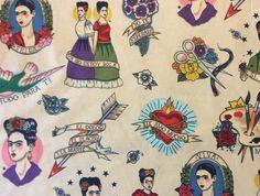 AH167 Frida Kahlo Mexico Art Viva Love Tattoo Painting Quilting ...