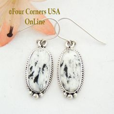 Four Corners USA Online - White Buffalo Turquoise Sterling Earrings Native American Navajo Artisan Burt Francisco NAER-1477, $121.00 (http://stores.fourcornersusaonline.com/white-buffalo-turquoise-sterling-earrings-native-american-navajo-artisan-burt-francisco-naer-1477/)