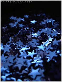 Fallen Stars by littlemewhatever on DeviantArt Indigo Blue, Navy Blue, My Favorite Color, Favorite Things, Blue Tones, Blue Aesthetic, Look At You, Something Blue, Stars And Moon