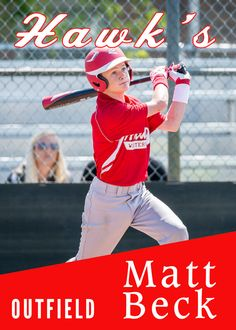 Baseball card psd file.