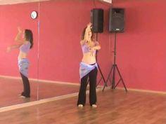 Belly dance steps demonstrated. Belly dance class:  http://www.bellydanceboulevard.com