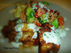BBQ Lime Chicken with Cous Cous Salad — ThermOMG