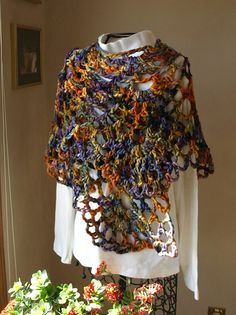 Scallop Wrap By Gayle Bunn - Free Crochet Pattern - (ravelry)