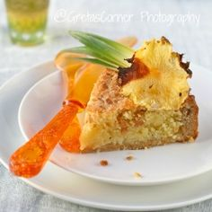 Pina colada bakewell tart...an almond pina colada cocktail...in a tart!