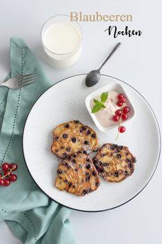 Sommerrezept: Heidelbeer Topfen Nocken mit Preiselbeerschaum Homemade Lemonade, Creative Food, French Toast, Snacks, Breakfast, Sweet, Desserts, Diy Blog, Burritos