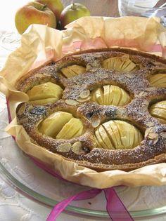 Marzipan Apfelkuchen mit Cranberries von Sugarprincess