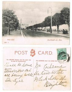 Early Postcard Essex, Southend On Sea, West Cliff , Nice View 1904 | eBay