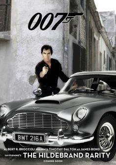 "James Bond ""The Hildebrand Rarity"" movie poster 1991 Dalton James, Timothy Dalton, James Bond Books, Honeypot, Book Jacket, Movie Tv, Film, Tv Shows, Cinema"