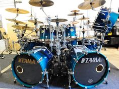 This Tama kit is mounted with gong bass drum(seen on top right of the photo). Music Like, Music Stuff, Phil Collins, Snare Drum, Bass Drum, Drum Solo, How To Play Drums, Pedalboard, Drum Kits