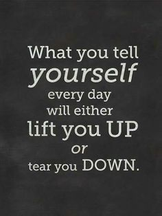 You either lift up or tear down